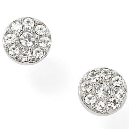 Disc Studs Crystal Earrings
