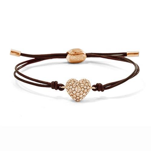Glitz Heart Wrist Wrap Bracelet