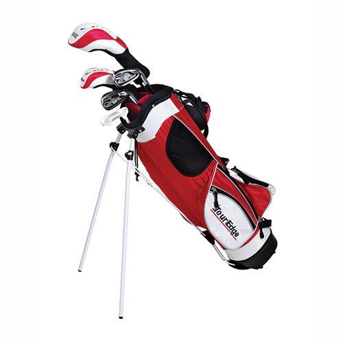 Junior HT Max 4x1 LH Golf Set w/ Red Bag, Ages 5-8 Years