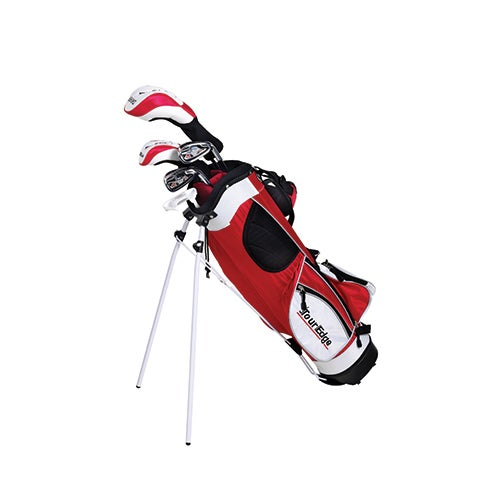 Junior HT Max 5x12 LH Golf Set w/ Red Bag, Ages 9-12 Years