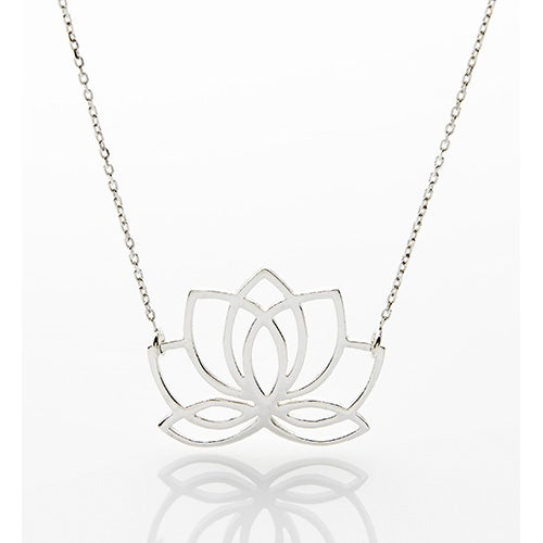 Sterling Silver Lotus Flower Necklace Power Sales Product Catalog