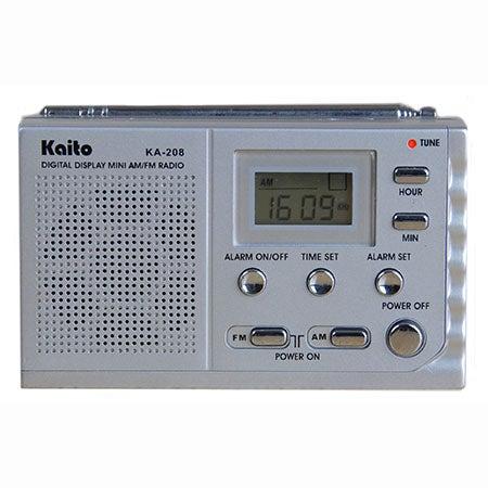 Pocket Size AM/FM Clock Radio