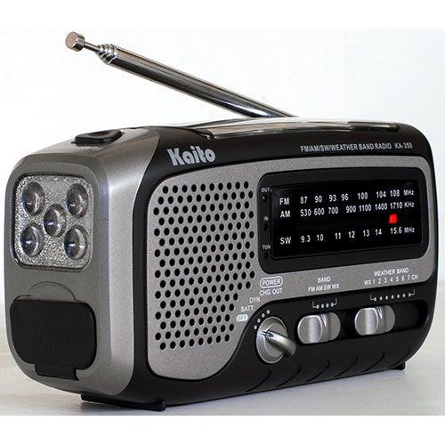 Voyager Trek Solar/Crank AM/FM/SW/NOAA Radio/Flashlight, Gray