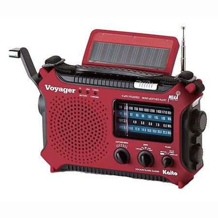 Voyager Classic Solar/Crank AM/FM/SW/NOAA Radio/Flashlight