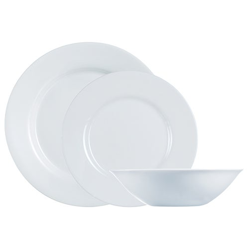Everyday 12-Piece Dinnerware Set, White