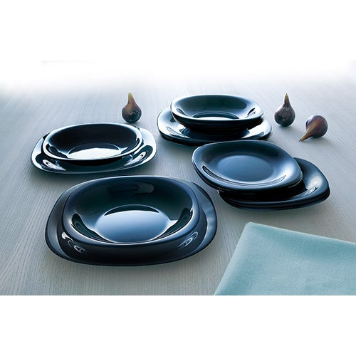 Carine 12-Piece Dinnerware Set, Black