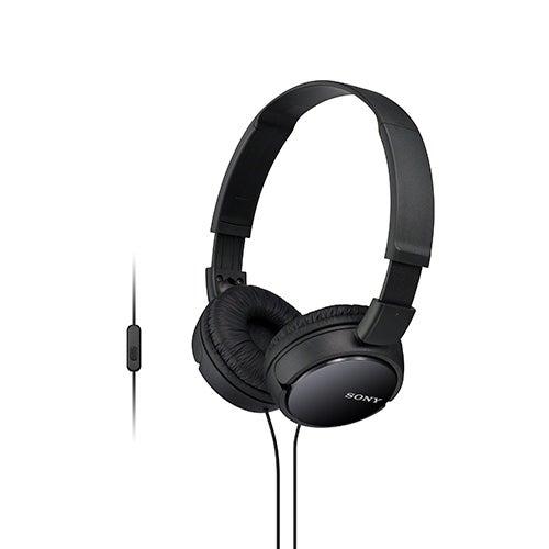 Stereo Headphones w/ In-line Mic, Black