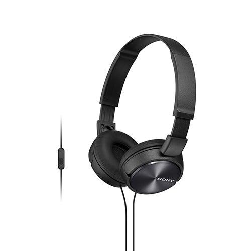 Full Size Stereo Headphones w/ In-line Mic, Black