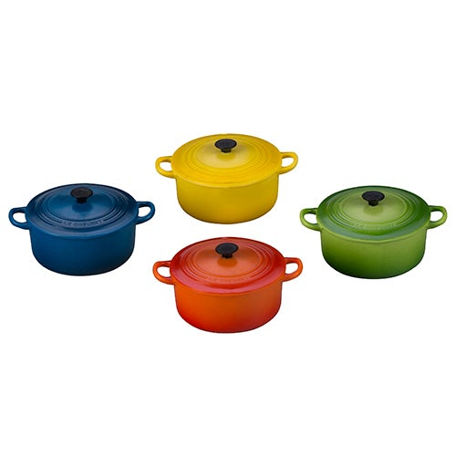 Set of 4 Round Dutch Oven Magnets, Multi-Color
