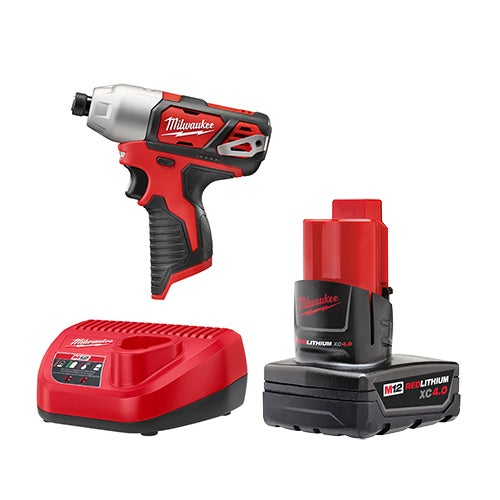 "M12 1/4"" Hex Impact Driver w/ Battery & Charger"