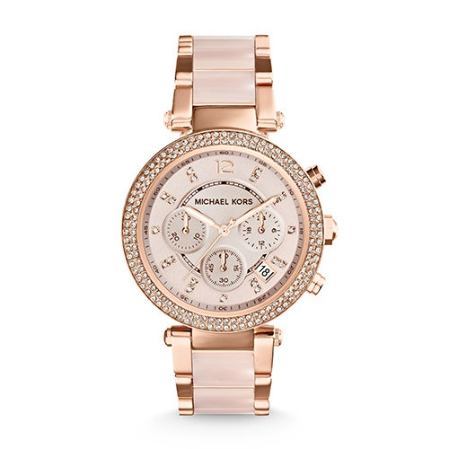 Ladies Parker Rose Gold-Tone SS Watch, Rose-Gold Dial
