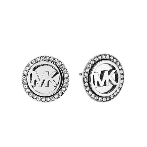 Logo Silver-Tone Stud Earrings