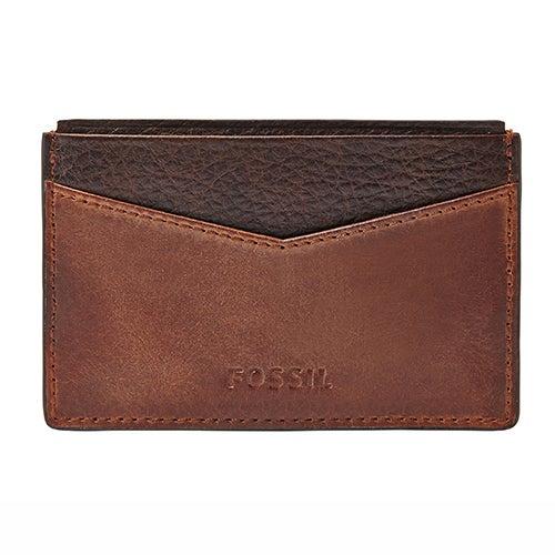 Quinn Leather Card Case, Brown