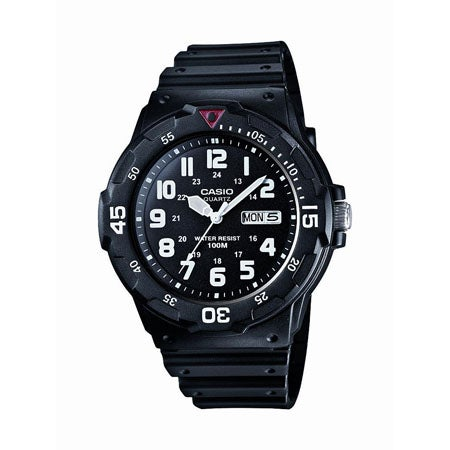 Classic Analog Watch, Black Resin Band