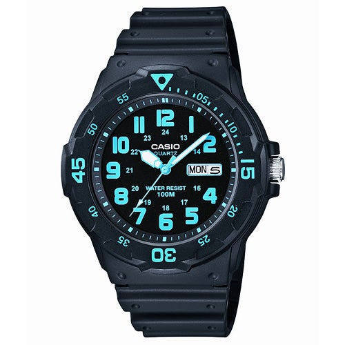 Classic Diver Analog Resin Watch, Black