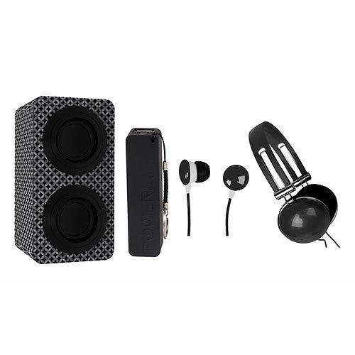 Portable Bluetooth Speaker Entertainment Pack, Black