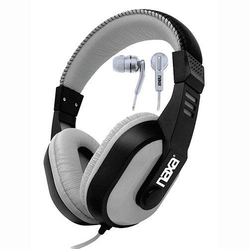 DJZ Headphone/Earphone Combo, Gray