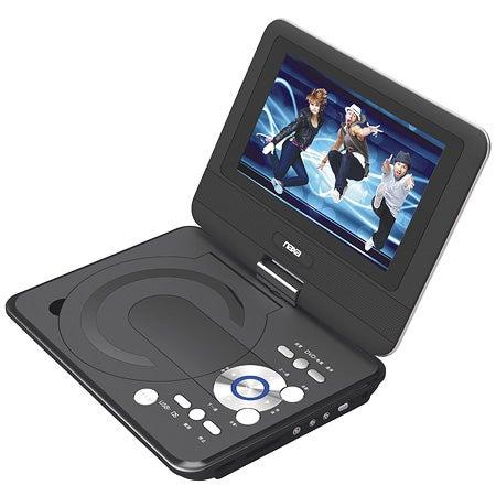 "9"" Swivel Screen Portable DVD Player w/USB/SD/MMC Inputs"