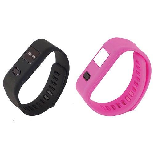 LifeForce+ Fitness Watch, Black/Pink