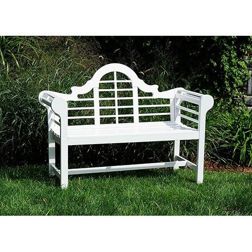 4ft Lutyen Bench, White