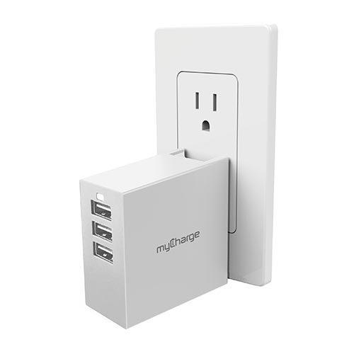PowerBase-3 USB Charging Hub, White