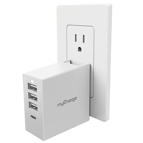 PowerBase 4 USB Charge Hub w/ QuickCharge, White