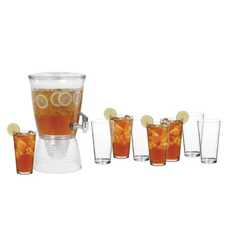 1.5 Gallon Beverage Dispenser and 8 24oz. Tumblers