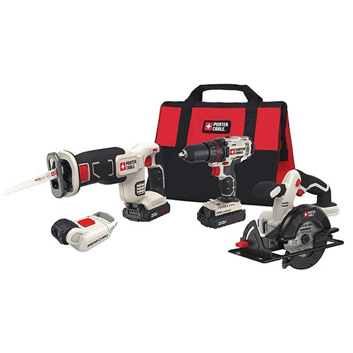 20V MAX 4-Tool Combo Kit - Drill/Driver, Circ Saw, Recip Saw