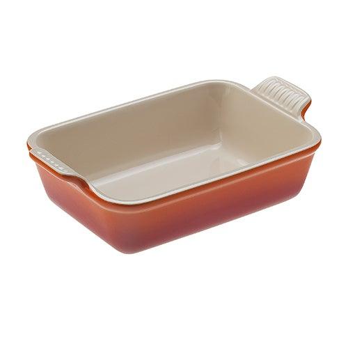 "Heritage 7x5"" Rectangular Dish, Flame"