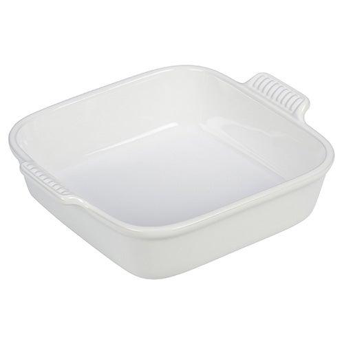 2 Qt Heritage Square Dish, White