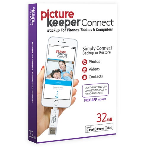 Picture Keeper Connect For iOS & Android, 32GB