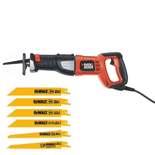 8.5 Amp Reciprocating Saw w/ 6 Pack Blades