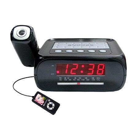 Digital Projection Alarm Clock with AM/FM Radio