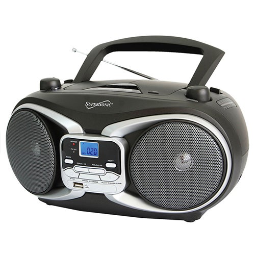 MP3/CD Player Boombox w/AM-FM Radio and USB Input