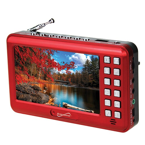 "4.3"" Portable Media Player w/ Voice Amplifier, Red"