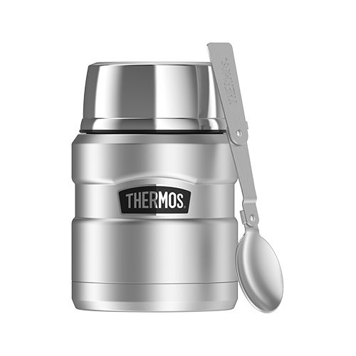 Stainless King 16oz Food Jar, Stainless Steel