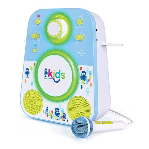 Kids Bluetooth Sing-Along System, Blue and Green, Ages 4+ Years