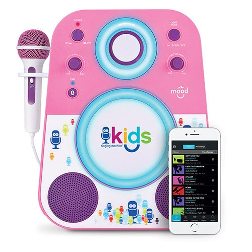 Kids Bluetooth Sing-Along System, Pink and Purple, Ages 4+ Years