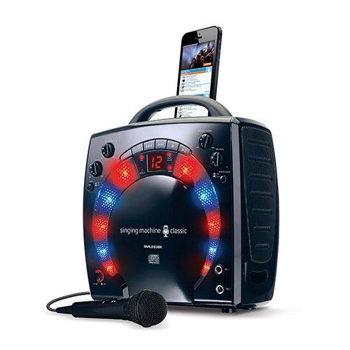 Portable Light-Up Karaoke Machine, Black