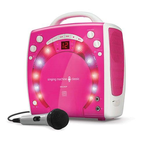 Portable Light-Up Karaoke Machine, Pink