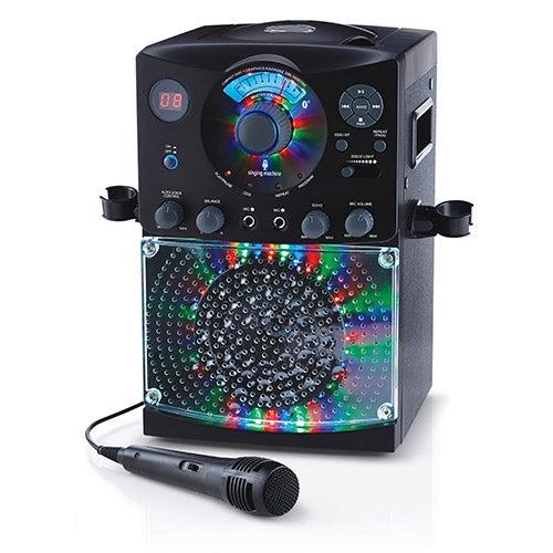 LED Disco Light and Bluetooth Karaoke Machine, Black
