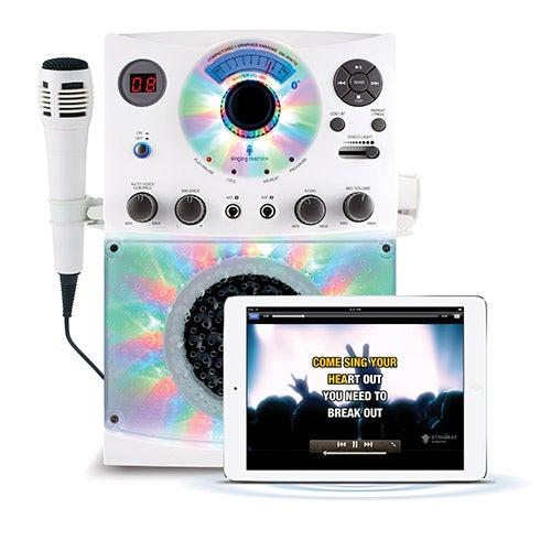 LED Disco Light and Bluetooth Karaoke Machine, White