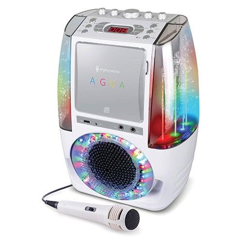 Agua Karaoke System W/Dancing Water Display, White