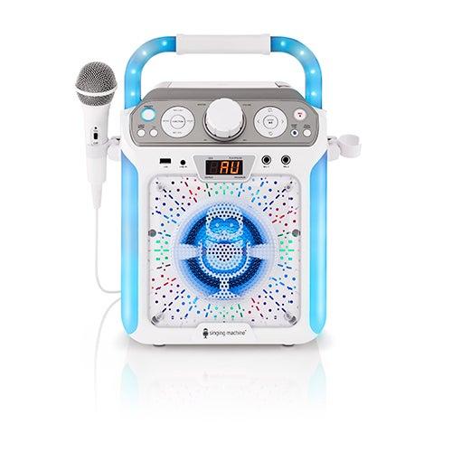 Groove Cube Karaoke Machine, White