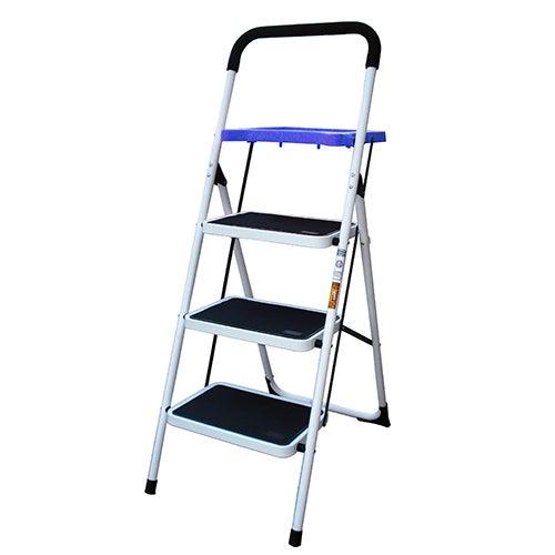 3-Step Metal Ladder w/ Paint Platform