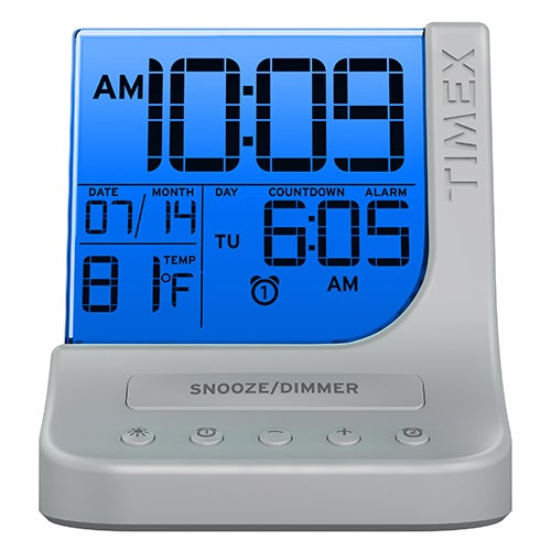 Color Changing Dual Alarm Clock w/ USB Charge Port