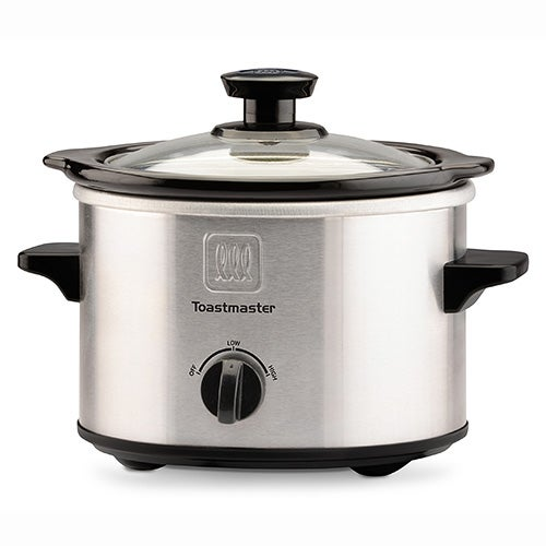 1.5 Qt Brushed Stainless Steel Slow Cooker