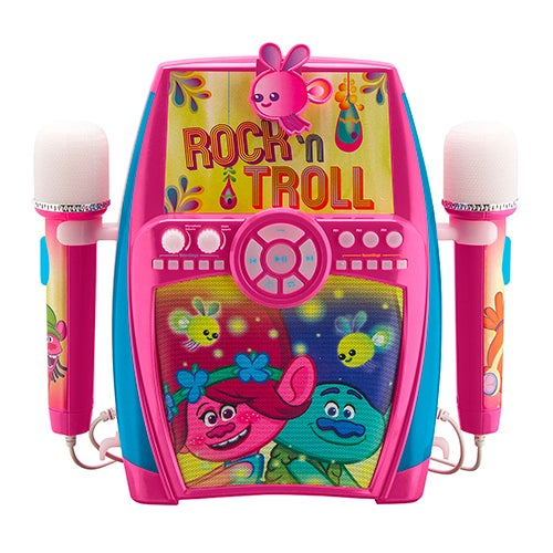 Trolls Deluxe Singalong Boombox with Dual Microphone