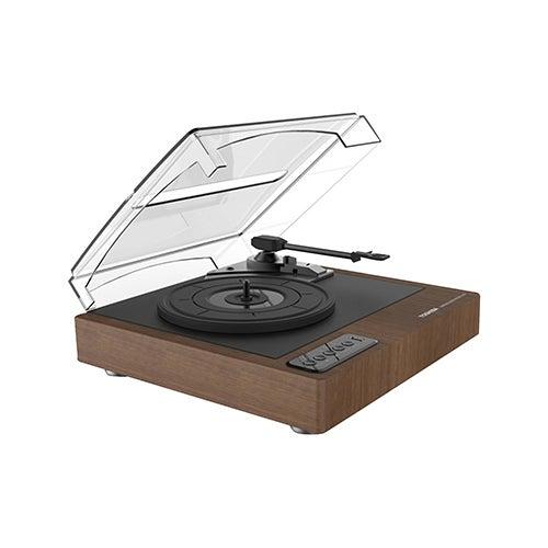 """7.7"""" Wood Grain Bluetooth Turntable"""