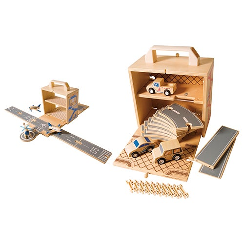 Box Set Wooden Airplane & Car Bundle, Ages 3+ Years